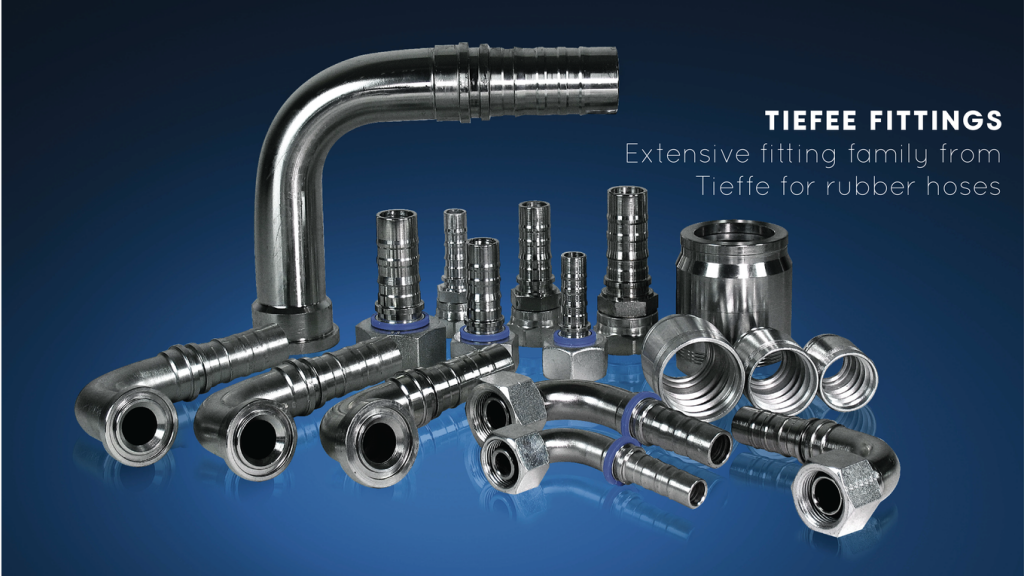 Tieffe ferrules and fittings for rusbber hoses